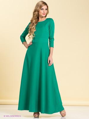 Платье LOVE&LIGHT. Цвет: зеленый