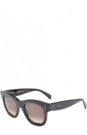 Солнцезащитные очки Céline Eyewear. Цвет: темно-коричневый
