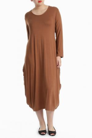 Платье Milanesse. Цвет: brown