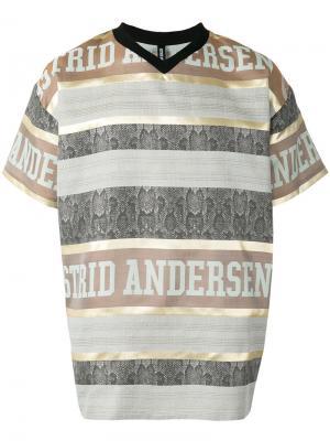 Полосатая футболка с логотипом Astrid Andersen. Цвет: чёрный