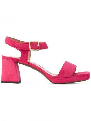 Босоножки на каблуках-столбиках LAutre Chose L'Autre. Цвет: розовый и фиолетовый