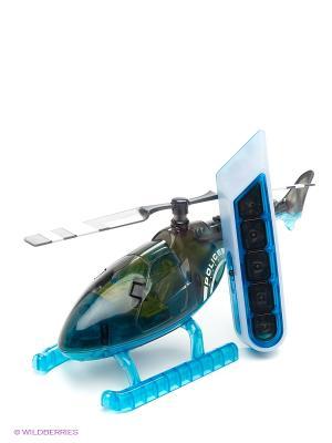 Игрушка - Вертолет с книжкой  и пультом Worx Toys. Цвет: голубой, черный, серый