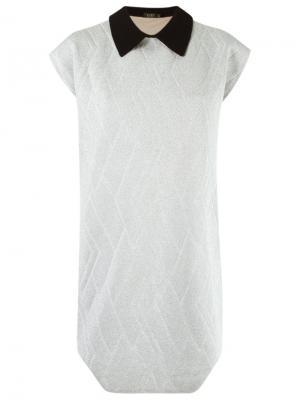 Asymmetric hem knit dress Gig. Цвет: серый