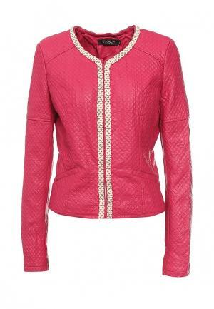 Куртка кожаная SEbo S'Ebo. Цвет: фуксия