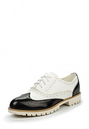 Ботинки Fiori&Spine. Цвет: черно-белый