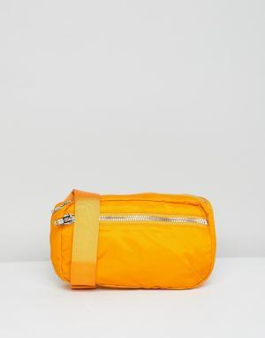 Weekday Сумка-кошелек на пояс Wood. Цвет: оранжевый