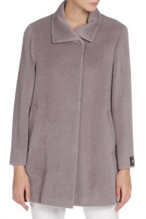 Свободное пальто с застежкой на пуговицы Cinzia Rocca. Цвет: серый
