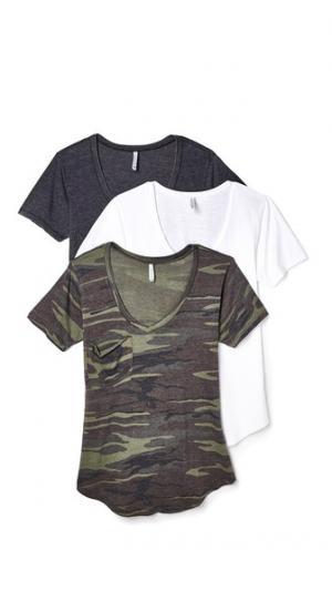 Комплект из трех футболок с камуфляжным принтом Z Supply. Цвет: мульти