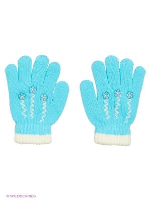 Перчатки Shapkoff. Цвет: голубой, белый