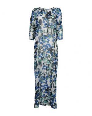 Длинное платье DANIELA FARGION. Цвет: ярко-синий