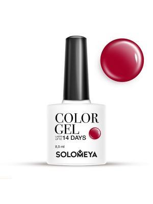 Гель-лак Color Gel Тон Cerise SCG150/Светло-вишневый SOLOMEYA. Цвет: темно-красный