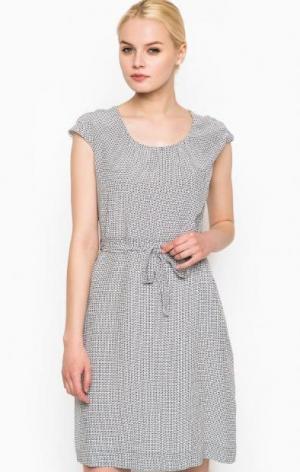 Платье из вискозы с короткими рукавами Cinque. Цвет: синий