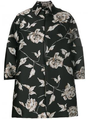 Свободная куртка с цветочным принтом Antonio Marras. Цвет: чёрный