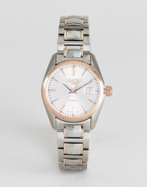 Roamer Часы с золотисто-розовой отделкой и браслетом из нержавеющей стали Roa. Цвет: серебряный