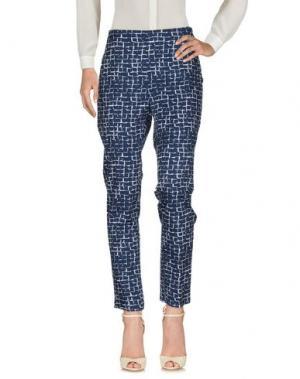 Повседневные брюки BLU BIANCO. Цвет: темно-синий