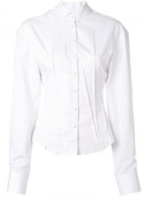 Рубашка слим Jacquemus. Цвет: белый