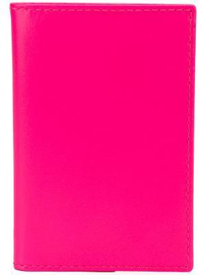 Бумажник дизайна колор-блок Comme Des Garçons Play. Цвет: розовый и фиолетовый
