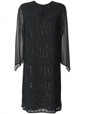 Платье с отделкой пайетками Steffen Schraut. Цвет: чёрный