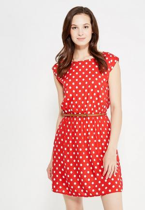 Платье oodji. Цвет: красный