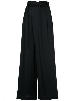 Расклешенные брюки с высокой талией Aula. Цвет: чёрный