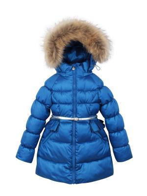 Пальто с утеплителем Pulka. Цвет: индиго