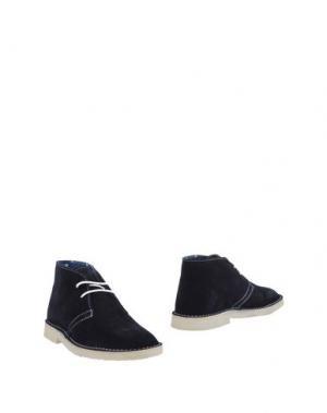 Полусапоги и высокие ботинки SSEINSE. Цвет: темно-синий