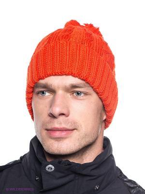 Шапка STORMLOCK POMPOM CAP Jack Wolfskin. Цвет: оранжевый