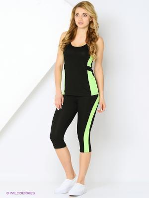 Спортивный костюм FORLIFE. Цвет: черный, зеленый