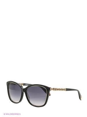 Солнцезащитные очки BLD 1616 101 Baldinini. Цвет: черный, бежевый, золотистый