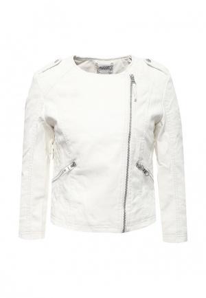 Куртка кожаная Alcott. Цвет: белый