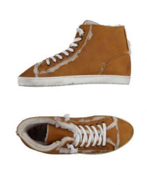 Высокие кеды и кроссовки YAB. Цвет: верблюжий