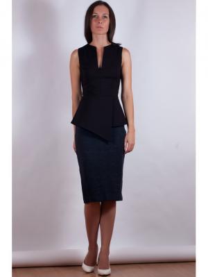 Блузка VERDEREVSKAYA. Цвет: черный