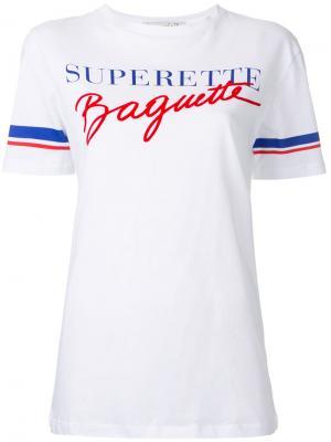 Футболка Superette Baguette Être Cécile. Цвет: белый