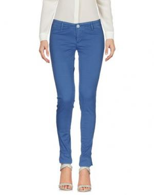 Повседневные брюки 0/ZERO CONSTRUCTION. Цвет: пастельно-синий