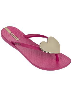 Шлепанцы Ipanema. Цвет: золотистый, розовый