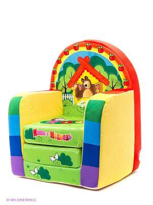 Детское развивающее кресло Маша и Медведь. Цвет: желтый