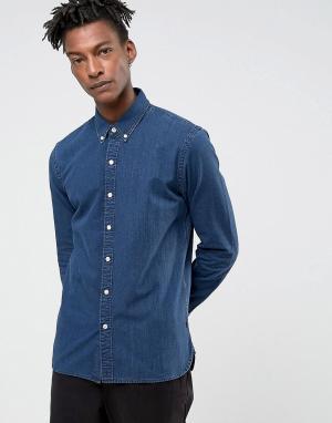 Levis Синяя джинсовая рубашка Pacific. Цвет: синий