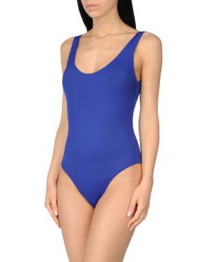 Слитный купальник FISICO. Цвет: синий