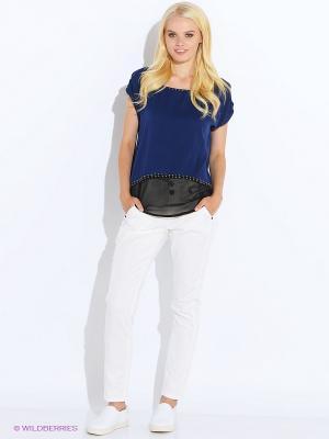 Блузка Anna Scott. Цвет: темно-синий