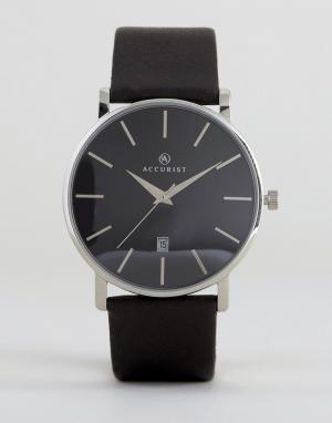 Accurist Часы с черным кожаным ремешком. Цвет: черный