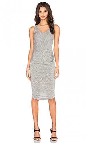Платье миди gia Riller & Fount. Цвет: серый
