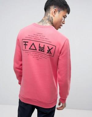 Friend or Faux Свитер с принтом на спине Limitless. Цвет: розовый