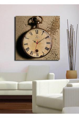 Декоративные настенные часы. Clock art. Цвет: коричневый