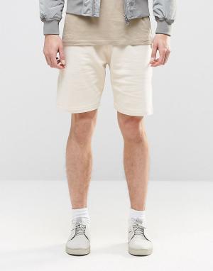 ASOS Кремовые трикотажные шорты. Цвет: серый