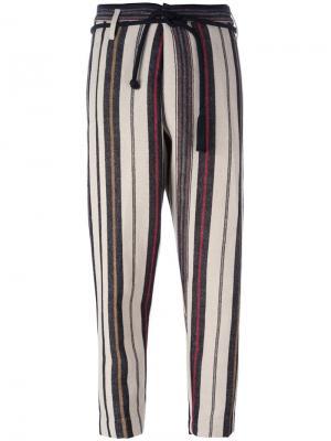 Зауженные полосатые брюки Forte. Цвет: многоцветный