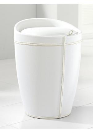 Корзина для белья Heine Home. Цвет: белый, коричневый, черный