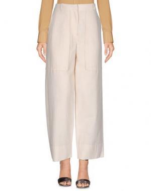 Повседневные брюки CEDRIC CHARLIER. Цвет: слоновая кость