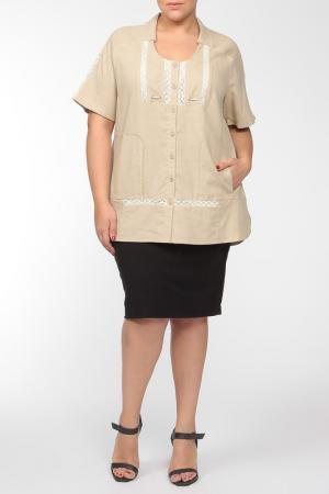 Рубашка Terra. Цвет: бежевый