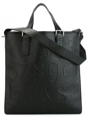 Плоская сумка-тоут Didot Assouline. Цвет: чёрный