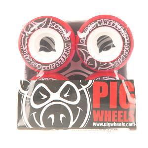 Колеса для скейтборда  Street Cruisers New Red 88A 51 mm Pig. Цвет: красный